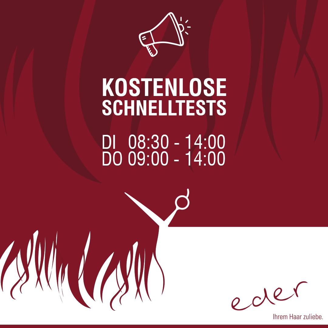 Friseur Eder Salzburg - Kostenlose Schnelltests